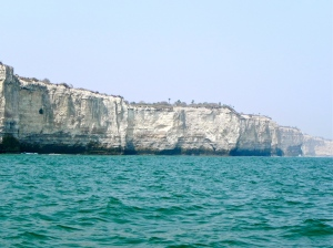 Cliff coast of luanda
