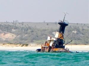 Shipwreck beach Luanda