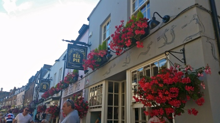 Twickenham is known for Eel Pie Island, a small island in the middle of the Thames which was the site where many Rock 'n Roll legends got their start. Now Eel Pie Island is an artist colony.  This pub is a nod to those glory days.