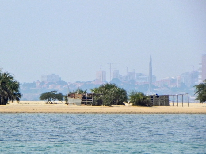 A view of Luanda city from Mussulo beach