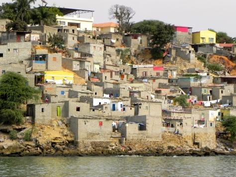 Shanty town Luanda Angola